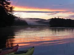 kayak at lake