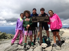 Top of Mt Washington with Family