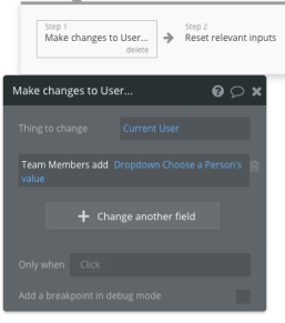Add User to Team List