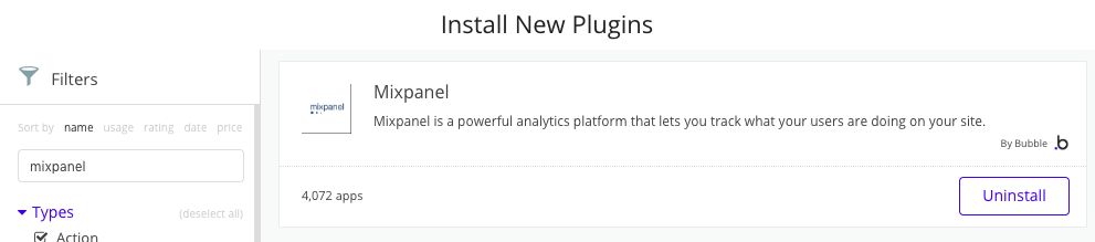 Bubble plugin for Mixpanel