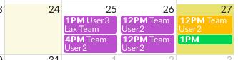 Calendar Color example