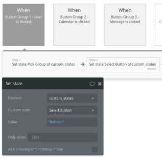 Select Button Custom Group