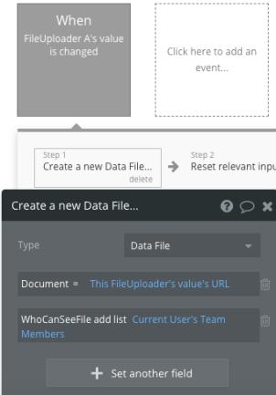 Upload workflow step