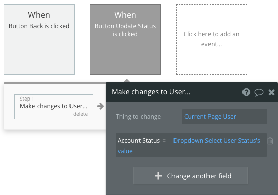 Change Current Page User