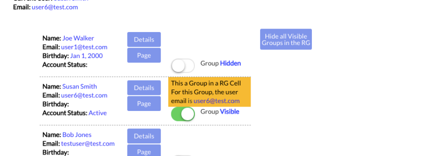 Use Toggle to Show or Hide Groups