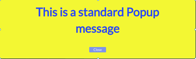 Popup Message in Your Bubble App